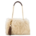 Shoulder bag from our Napeas collection in Lamb Hair Skin