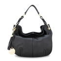 Shoulder Hobo bag from our Duende Mini collection in Calf Leather (antelope finish)
