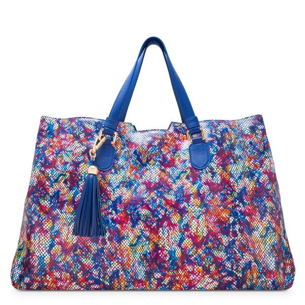 Bolso Shopping colección Gea en Piel Vacuno (Multicolor)