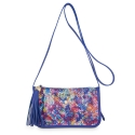 Pouch Cross Body Bag from our Gea collection in Calf Leather (Multicolour Textured)