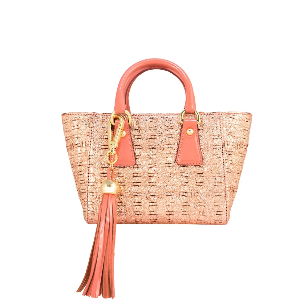 Mini Tote from our Lily collection in Lambskin (Fantasy pattern)