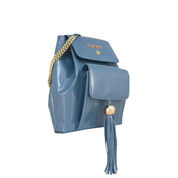 Mini Backpack from our Lily collection in Calf Leather (Metallic Patent)