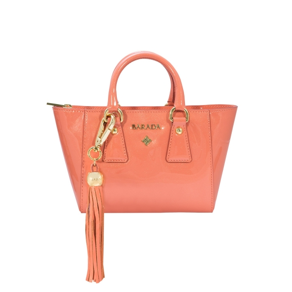 Mini Tote from our Lily collection in Calf Leather (Metallic Patent)