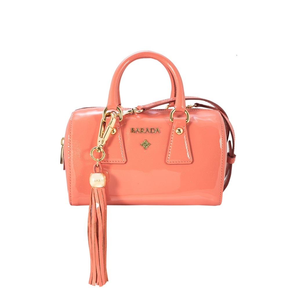 Mini Bowling Bag from our Lily collection in Calf Leather (Metallic Patent)