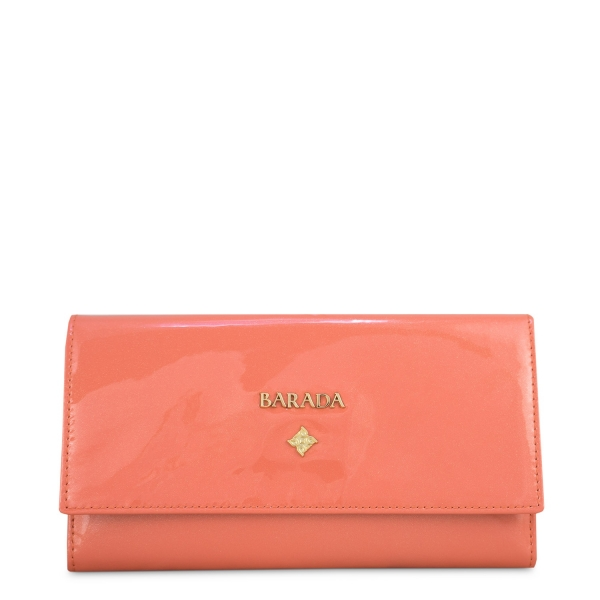 flapover Wallet in Calf Leather (Metallic Patent)