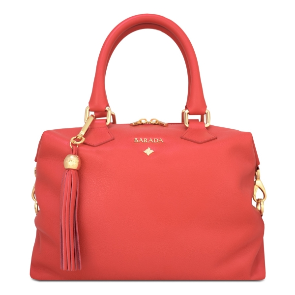 Bowling bag from our Minerva collection in Calf Leather (Antelope).