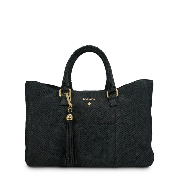 Shopping Bag Moira Collection in Nubuck finished Calf Leather