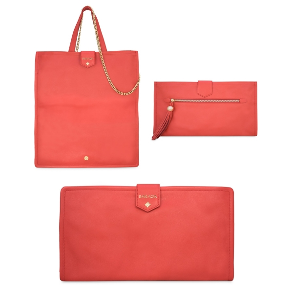 Convertible Clutch bag from our Real collection in Calf Leather (Antelope)
