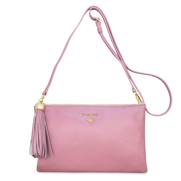 Double Pouch Cross Body Bag from our Shiva collection in Lambskin (Metallic Nappa)