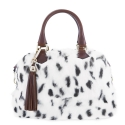 Bowling bag from Achlys collection in Rabbit fur with spots