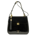 Shoulder bag Dama Blanca Collection in Patent Calf Leather
