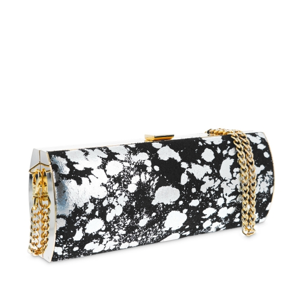 Clutch handbag from Aileen collection in Calf