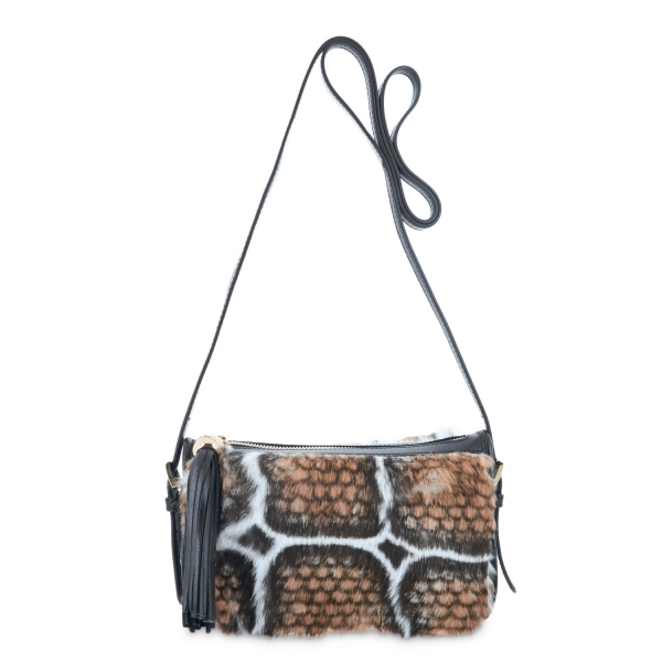 Pouch from Alida collection in Calf and rabbit fur