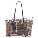 Tote - Shopping handbag from Alida collection in Calf and rabbit fur