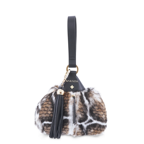 Wristlet Collecting Tin Bag from Alida collection in Calf and rabbit fur