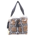Shoulder bag from Alida collection in Calf and rabbit fur