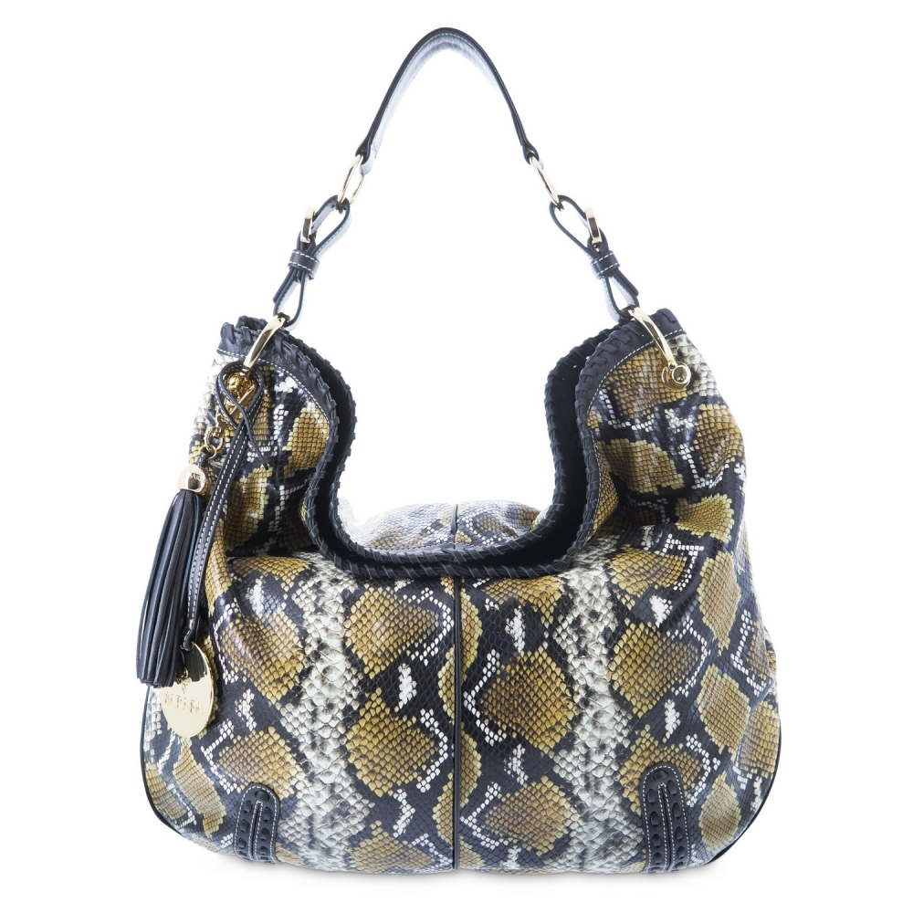 Shoulder bag from Duende collection in Calf Python print