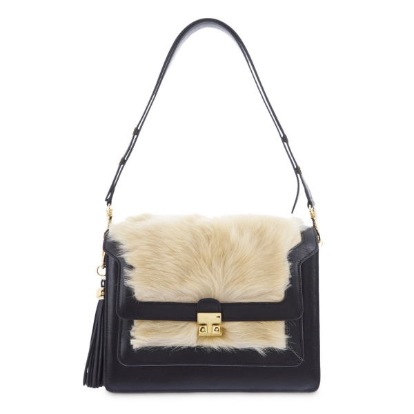 Shoulder bag from Morgana collection in Calf and Lamb fur