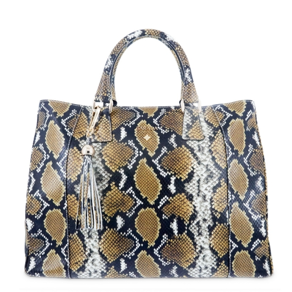 Tote - Shopping bag from Morgana collection in Calf Python print