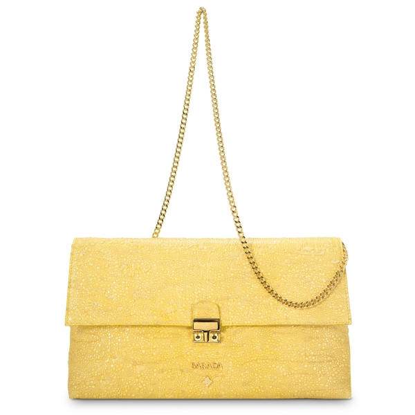 Crossbody Clutch Dama Blanca Collection in Lamb Skin