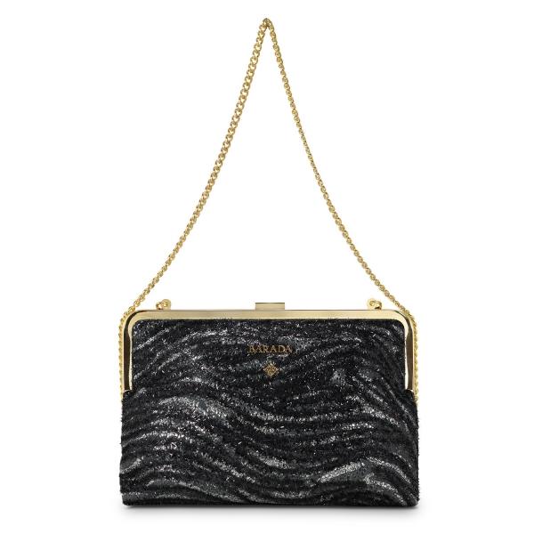Framed Clutch Bag Dama Blanca Collection in Lamb Skin